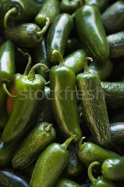Fraîches jalapeno poivrons vert produire Photo stock © iofoto