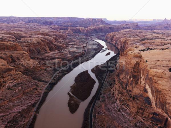 Rzeki Utah zielone Colorado uruchomiony parku Zdjęcia stock © iofoto