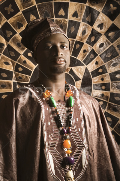 Young African American Man in Traditional African Clothing Stock photo © iofoto