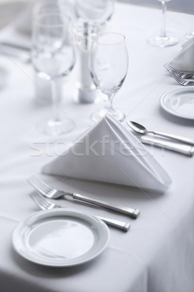 Place Settings on Dining Table Stock photo © iofoto