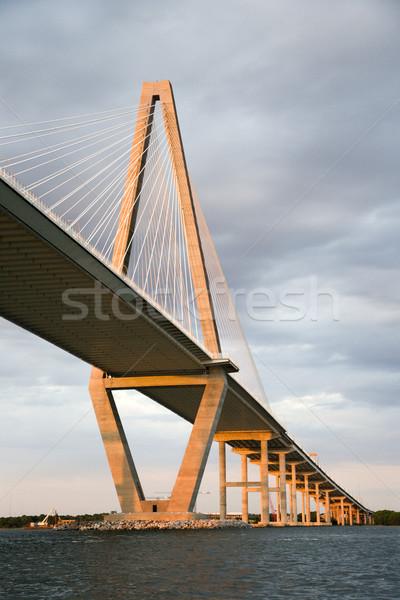 Сток-фото: реке · моста · Южная · Каролина · воды · кабеля · цвета