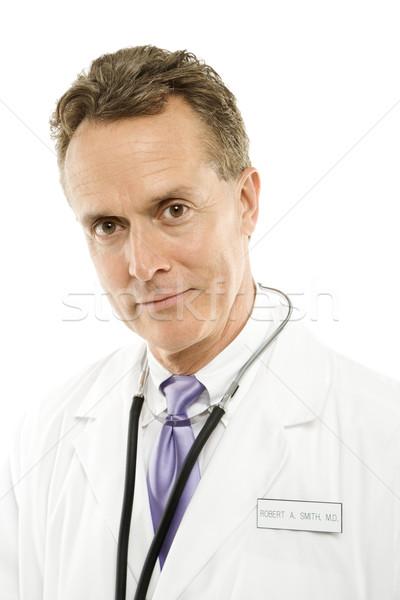 Médecin stéthoscope portrait médecin de sexe masculin autour Photo stock © iofoto
