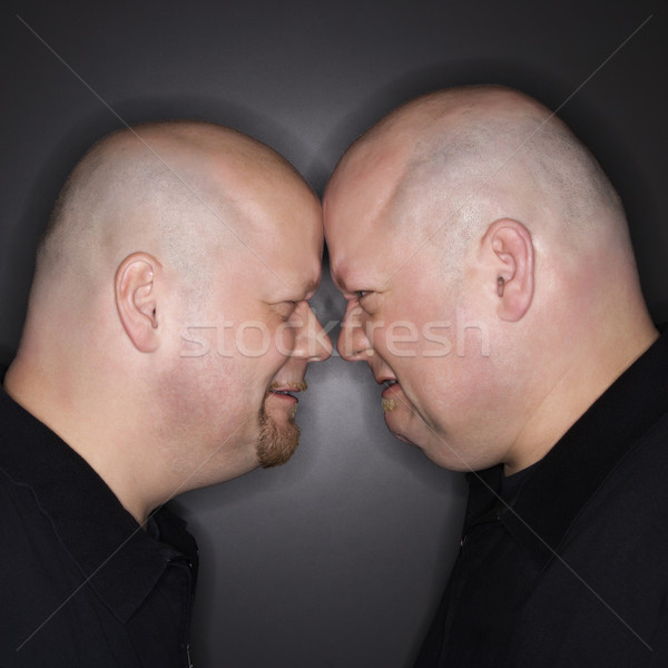Twin men facing off. Stock photo © iofoto