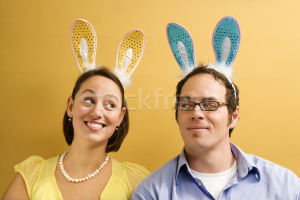 Couple lapin oreilles adulte Photo stock © iofoto
