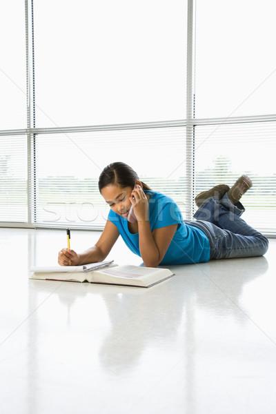 девушки азиатских полу домашнее задание говорить Сток-фото © iofoto
