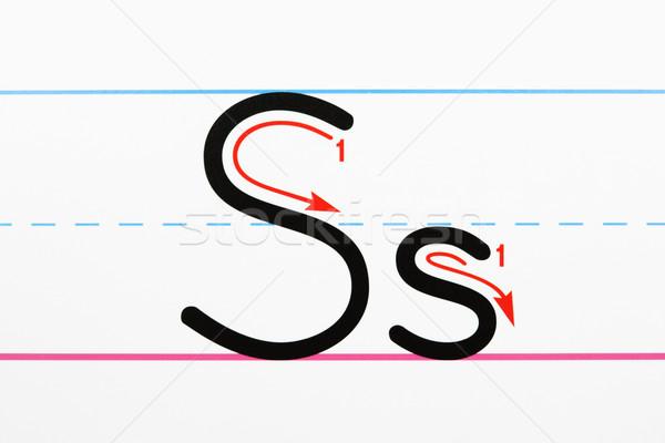 Alfabeto escrito práctica carta escritura Foto stock © iofoto
