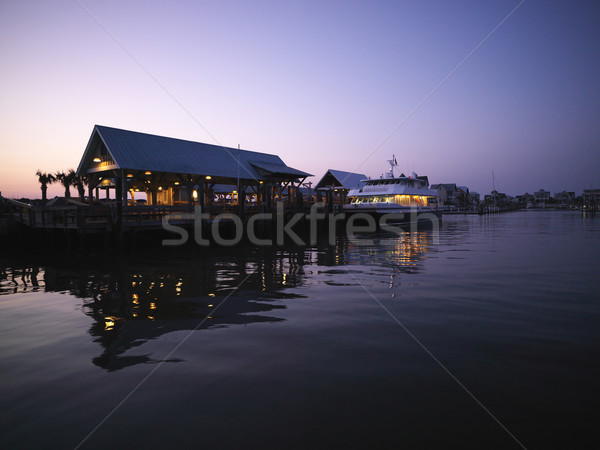 Ferry boat docked. Stock photo © iofoto