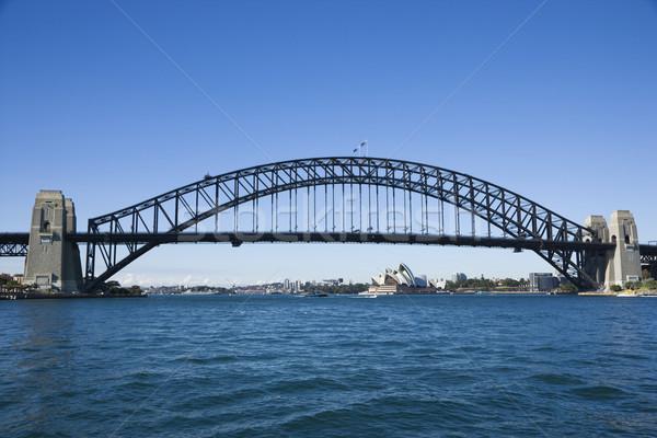 Sydney Australia puerto puente vista Sydney Opera House Foto stock © iofoto