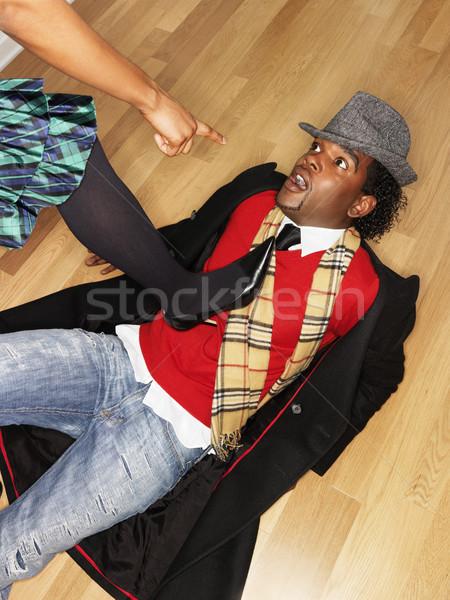 Woman accusing man Stock photo © iofoto