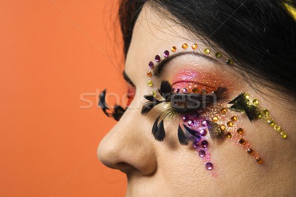 Vrouw uniek make kaukasisch Stockfoto © iofoto