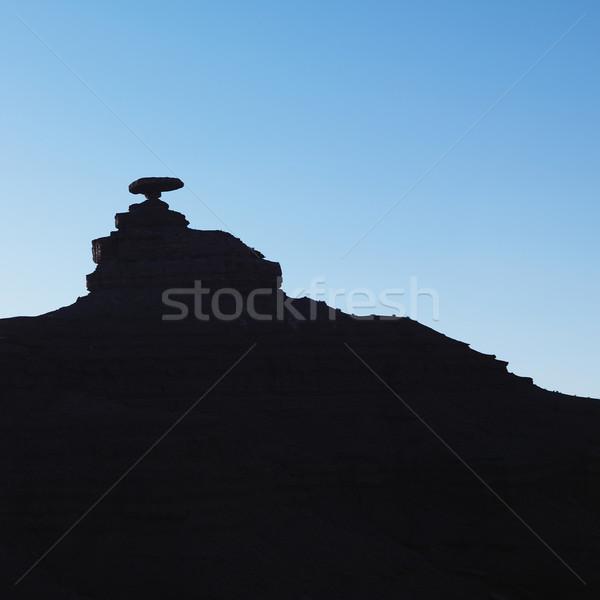 Mexikói kalap kő Utah sziluett sziklaformáció Stock fotó © iofoto