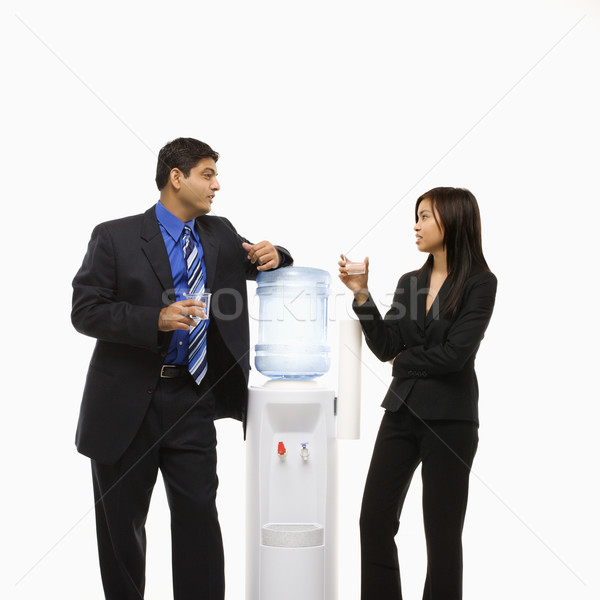 People at water cooler. Stock photo © iofoto