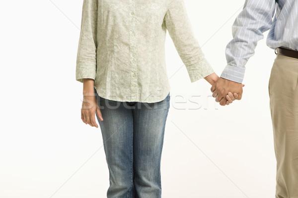 Stok fotoğraf: çift · el · ele · tutuşarak · görmek · kadın · adam