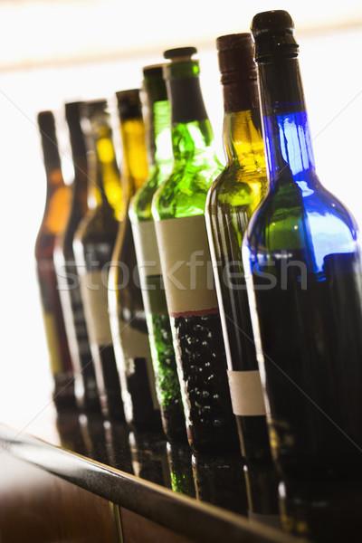 Bor üvegek kilátás csetepaté színes függőleges Stock fotó © iofoto