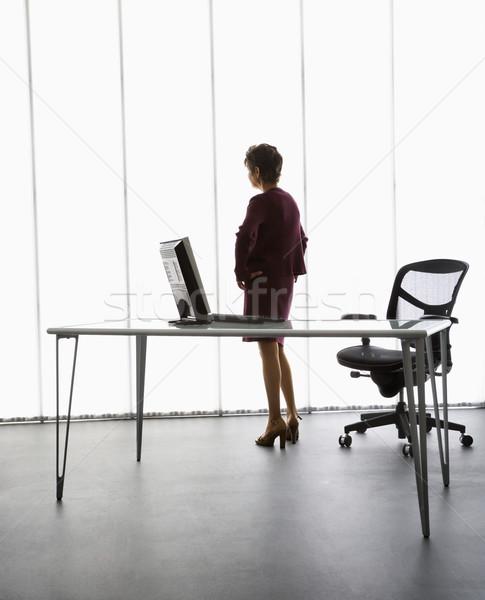 Empresária escritório caucasiano em pé mulheres Foto stock © iofoto