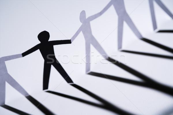 Minderheit ein schwarz Papier Person Stock foto © iofoto