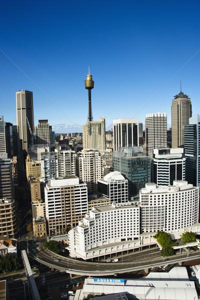 Centrum Sydney Australië luchtfoto gebouwen reizen Stockfoto © iofoto