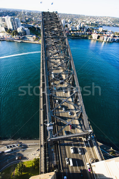 Sydney puerto puente paisaje urbano Australia Foto stock © iofoto
