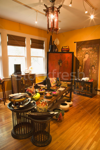 Interior decoração armazenar eclético casa mobiliário Foto stock © iofoto