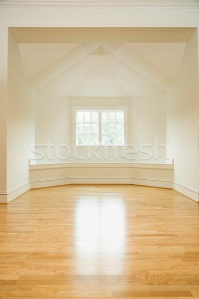 Habitación vacía casa luz del sol ventana madera dura pisos Foto stock © iofoto