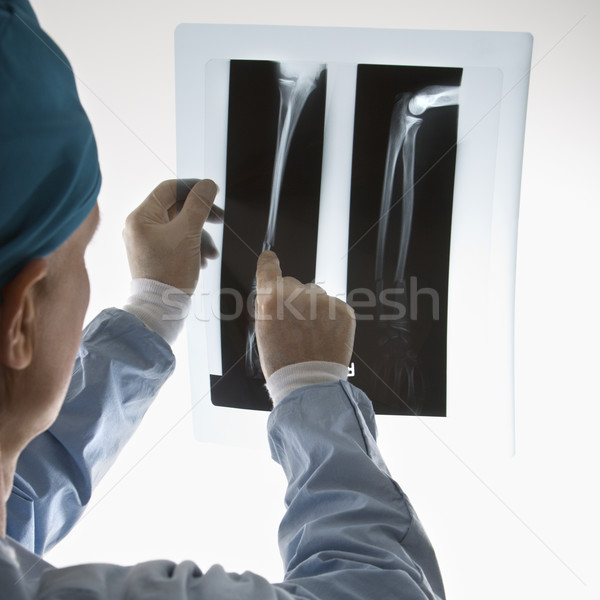врач кавказский мужской доктор указывая Xray цвета Сток-фото © iofoto