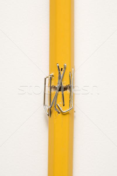 Stapled pencil. Stock photo © iofoto