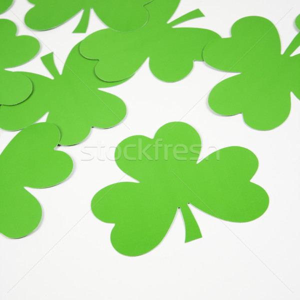Green paper shamrocks. Stock photo © iofoto