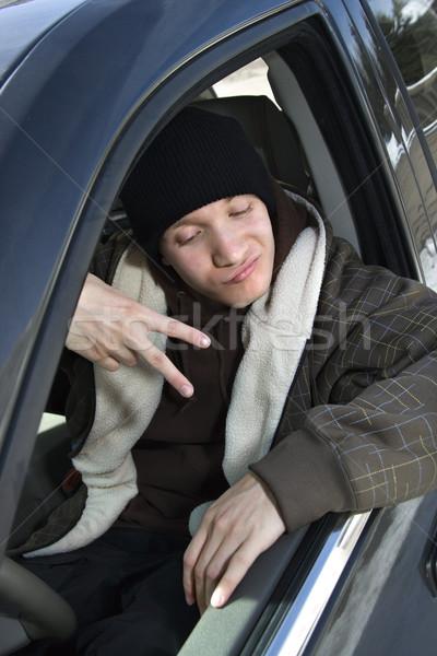 Adolescente caucásico masculina adolescente Foto stock © iofoto