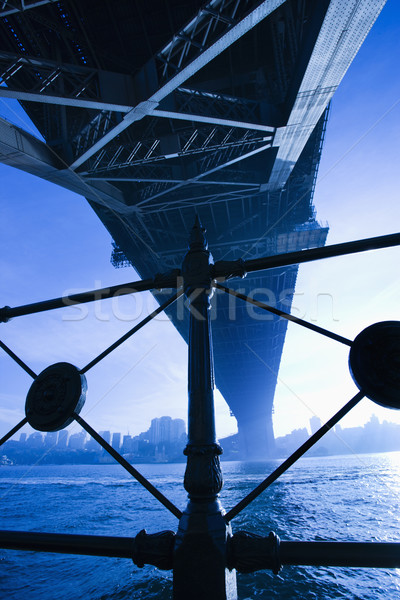 Stockfoto: Sydney · haven · brug · Australië · schemering