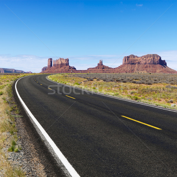 Rural desert highway. Stock photo © iofoto