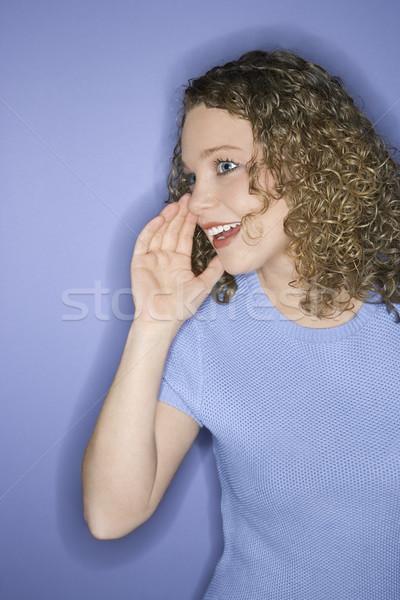 Woman communicating. Stock photo © iofoto