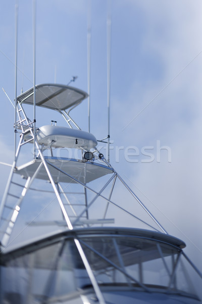 Private fishing boat lookout. Stock photo © iofoto