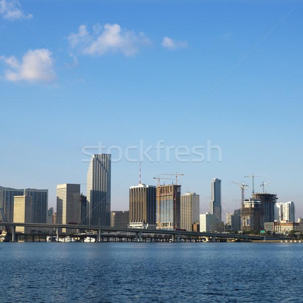 Skyline Майами Флорида США воды Сток-фото © iofoto
