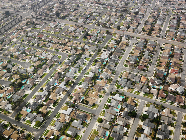 Aerial of urban sprawl. Stock photo © iofoto