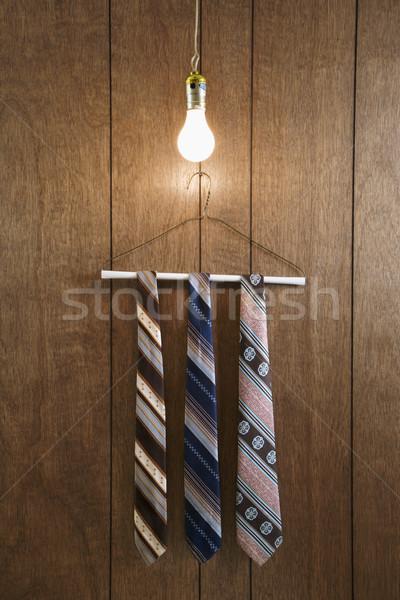 Men neckties on hanger. Stock photo © iofoto