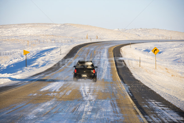 Automobile on icy road. Stock photo © iofoto