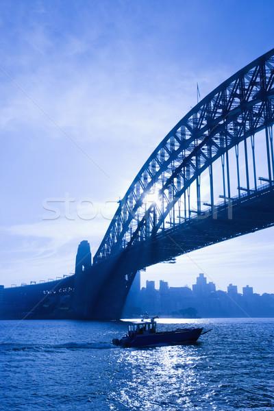 Сток-фото: лодка · моста · Сидней · сумерки · мнение