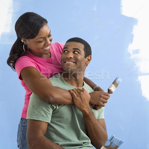 Portrait of happy couple Stock photo © iofoto