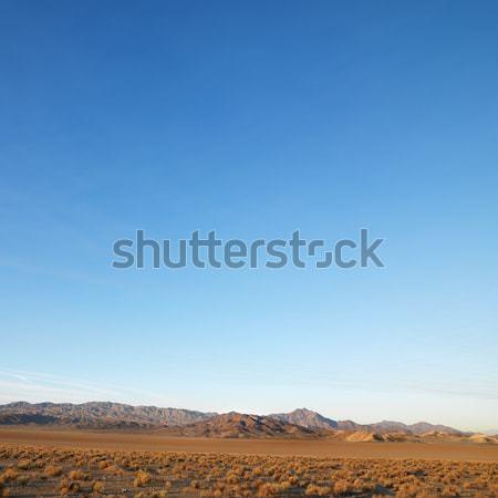 Wüste Landschaft unfruchtbar Berge Abstand Reise Stock foto © iofoto