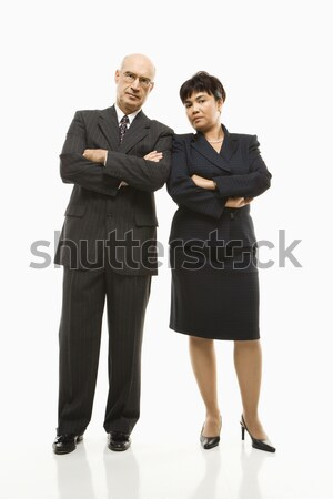 üzletember nő kaukázusi középkorú üzletasszony áll Stock fotó © iofoto