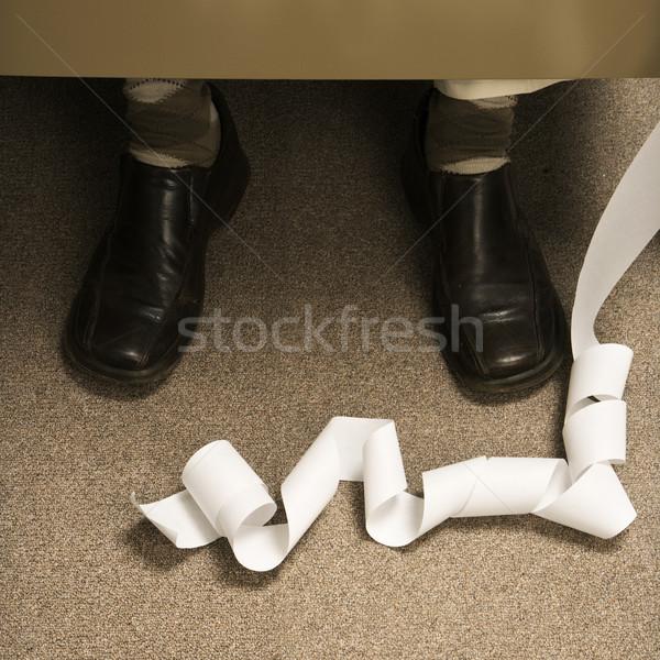 Makine uzun kıvrılmış ayaklar Retro işadamı Stok fotoğraf © iofoto