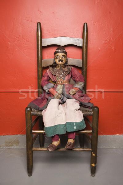 марионеточного сидят Председатель человека игрушку Сток-фото © iofoto