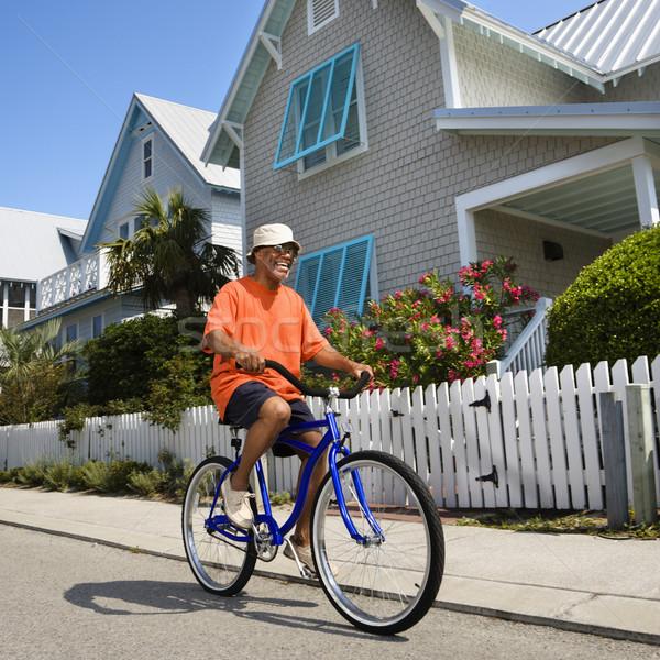 Man bicycling. Stock photo © iofoto