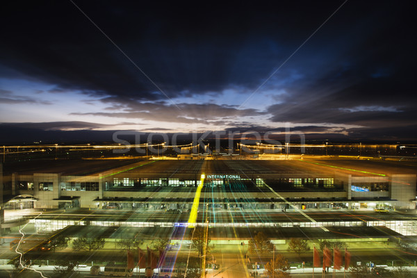 Melbourne airport at night Stock photo © iofoto