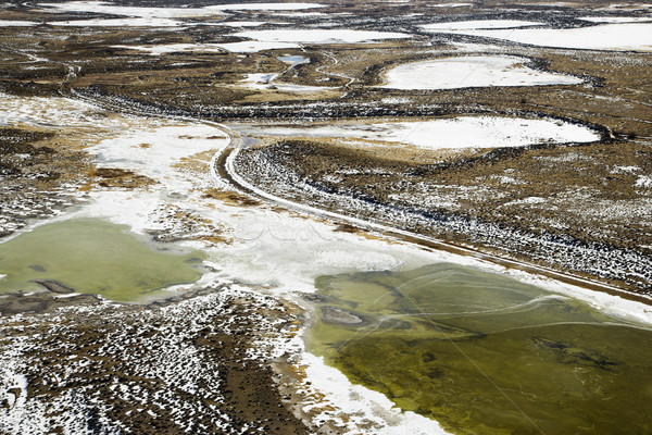 Aerial View of Country Landscape Stock photo © iofoto