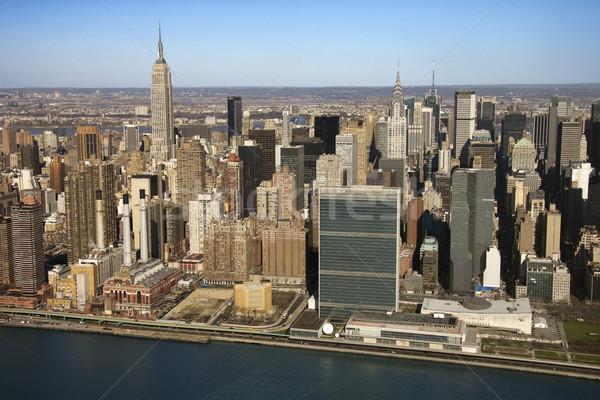 Manhattan реке зданий Нью-Йорк воды Сток-фото © iofoto