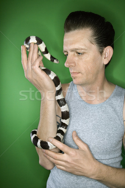 Man holding California Kingsnake. Stock photo © iofoto