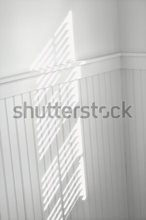 Sun through window blinds on wall. Stock photo © iofoto