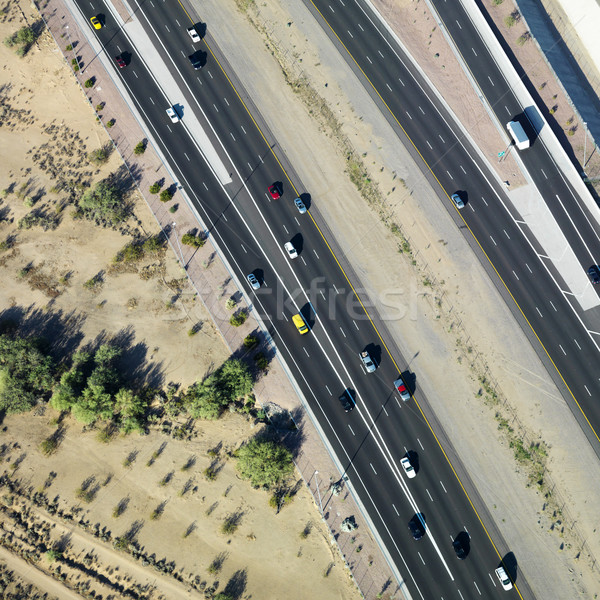 Aerial of highway. Stock photo © iofoto