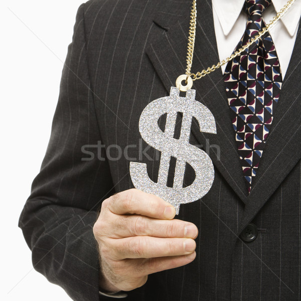 Businessman and dollar sign. Stock photo © iofoto